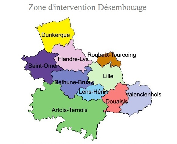 map - zone d'intervention désembouage