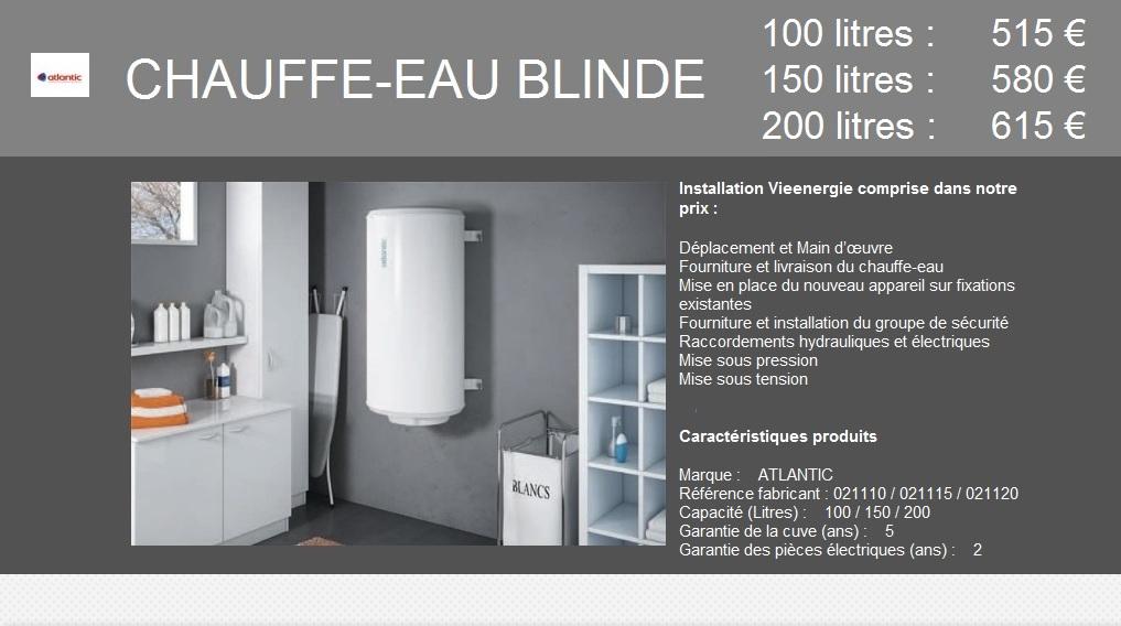 Blindé Vertical Mural 100/150/200 Litres
